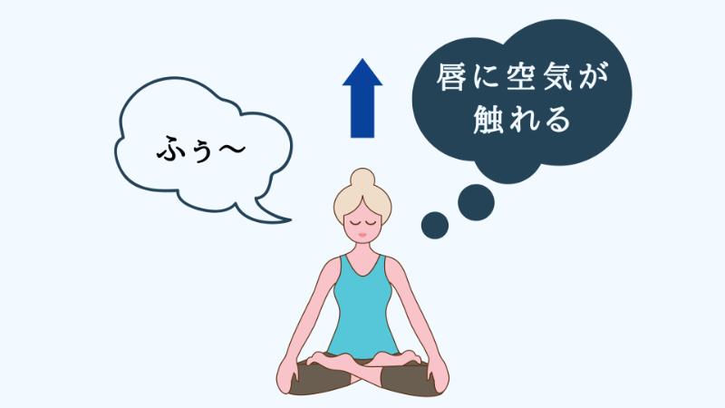 座って瞑想